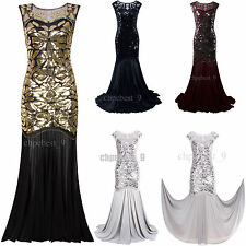 1920s Flapper Dress Great Gatsby Long Evening Prom Gown Bridesmaid Party Dresses