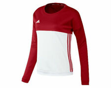 Adidas T16 Team Crew Sweater Red White AJ5416 - Women's
