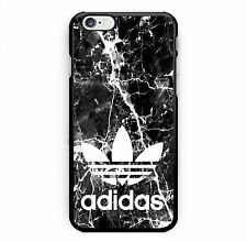 Best New Adidas Marble Black Print Hard Plastic Case For iPhone 7 5s 6s & 7 Plus