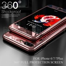 Mirror Hybrid 360° Hard Thin Case Tempered Glass Skin Cover For iPhone 7 Plus 6S