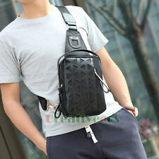 Men Nylon Travel Hiking Messenger Shoulder Sling Back Pack Chest Waterproof Bag