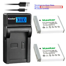 Kastar NB-6L Battery CB-2LY Charger for Canon PowerShot D10 D20 ELPH 500 HS S90