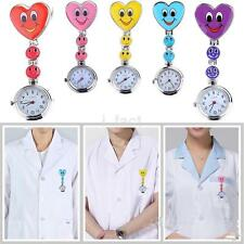 Heart Smile Face Heart Nurse Doctor Quartz Pocket Pendant Clip On Fob Watches