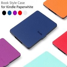 "PU Leather Smart Magnetic Wake /Sleep Case Cover For 6"" Amazon Kindle Paperwhite"