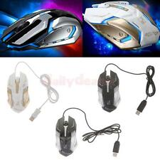 Cool 1600DPI 4 Button LED Optical Gaming Mouse Mice for PC Laptop Computer