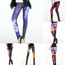 Womens YOGA Workout Gym Print Sport Pants Fitness Leggings Lady Stretch Trousers