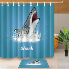 Great white shark jumping out of the water Shower Curtain & 12hooks 71*71inch