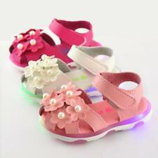 Summer Baby Girls LED Light Luminou Sandals Casual  Kids Toddler Princess Shoes