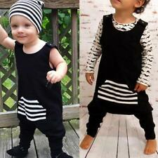 Newborn Infant Baby Boys Stripe Romper Jumpsuit One Piece Outfits Clothes