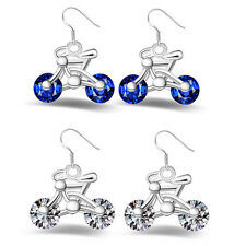 Crystal New Women Bike Gift Bicycle Earring Design Earring 1Pair Jewelry