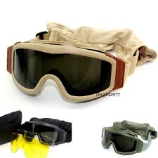 Tactical Military Airsoft Goggles Paintball Goggle Glasses Safety Mask Hunting