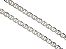 Solid 925 Sterling Silver 6.6mm Mariner Link Chain Mens MADE IN ITALY