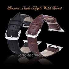 Genuine Leather Buckle Wrist Strap Belt for Apple Watch Band iWatch 38mm 42mm