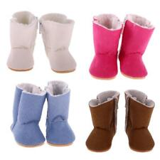 18inch Dolls Flat Snow Boots Shoes for American Girl Our Generation My Life Doll