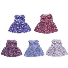 Sleeveless Collar Frock Skirt Floral Dress for American Girl 18inch Doll Clothes