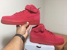 Nike Mens Air Force 1 Mid '07 Red October Gym Red/White 315123-609 100%AUTHENTIC