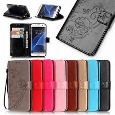 Hot! Flip Wallet PU Leather Card Magnetic Flower Case Cover For Samsung Galaxy