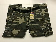 Wrangler Belted Cargo Pants Camo Camouflage NEW Mens Sizes 34 36 38  NWT