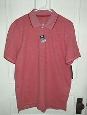 Nwt George Mens Solid Pique Polo Red Short sleeve Dress Shirt
