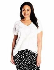 Lucky Brand Womens Plus 7Q62422 -SZ Mesh Front Top- Choose SZ/Color.