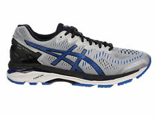 NEW MENS ASICS GEL-KAYANO 23 RUNNING SHOES TRAINERS SILVER / IMPERIAL / BLACK