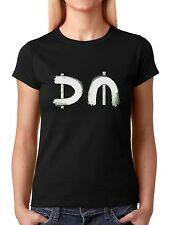 Depeche Mode Logo Spirit Album Tour Women T Shirt Black White Grey
