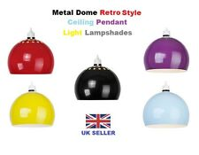Modern Easy Fit Metal Dome Retro Style Ceiling Pendant Light Lamp shade shades