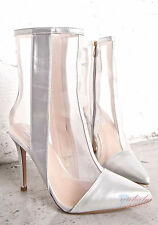 Sexy Women Summer Mesh Style Pointed Toe Ankle Boots High Heel Sandal Booties