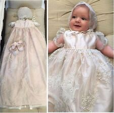New Heirloom Baptism Gown White Ivory Baby Girls Christening Dress Custom Size