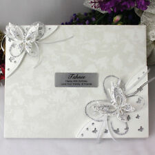 40th Birthday Guest Book - 3D Butterfly - Add a Name & Message