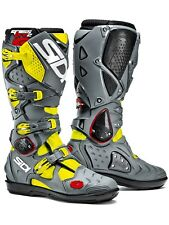 Sidi Yellow Fluo-Grey Crossfire 2 SRS MX Boot