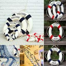 WELCOME ABOARD Nautical Wall Decor Boat Ring Life Buoy Preserver Home 14cm-50cm