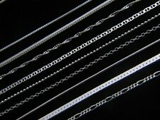 Solid 925 STERLING SILVER Chain Necklace REAL SILVER ** Many Designs to Choose**
