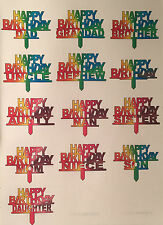 15 happy birthday cupcake toppers precut for men and woman
