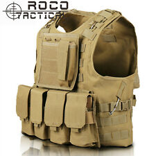 Tactical Vest Combat Molle Carrier Airsoft Plate Quick Release Multipocket Vests