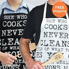 Kitchen Quote Apron Gift Cooking Catering Novelty Fun Baking Bib Vintage Style
