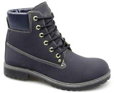 Xti Territory Mens Faux Nubuck Padded Lace-Up Casual Work Ankle Boots Navy Blue