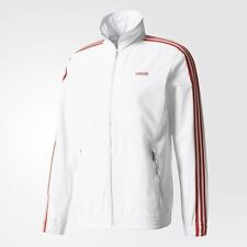 adidas Originals MODERN MEN'S TRACK JACKET Elastic Cuffs, White- Size XS, S Or M