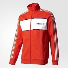 adidas Originals BLOCK MEN'S TRACK JACKET Slim Fit CORE RED - Size XS, S Or M