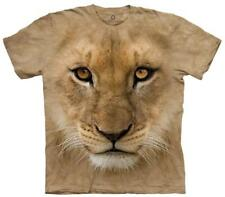 Youth: Big Face Lion Cub Smithsonian Collection Kids T-Shirt Brown New Shirt Tee