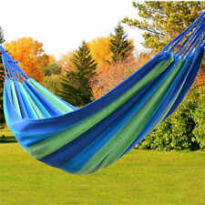 Portable Canvas Hammock Fabric Hanging Sleeping Bed Swing Outdoor Travel Camping