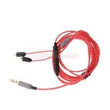 3.5mm MMCX Audio Cable Cord w/ Mic Volume Control for Shure se215 425 535