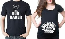 Bun in the Oven Maternity T-shirt Pregnancy tee with ruched sides Couple shirts