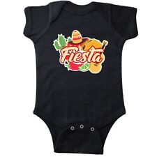 Inktastic Fiesta With Sombrero Taco Cactus Lime Red Pepper And Infant Creeper De