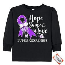 Inktastic Hope Support Love Lupus Awareness With Toddler Long Sleeve T-Shirt