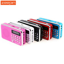 Portable Mini Music Speaker Fm Player Radio Usb Bluetooth Mp3 Tf Wireless Stereo