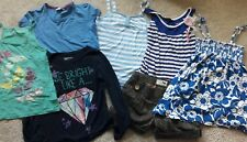 Girls summer bundle shorts tops age 8-9 Next M & S Gap