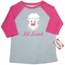 Inktastic Lil Lamb Girl Toddler T-Shirt Animal Pink Baby Infant Tees. Gift Child