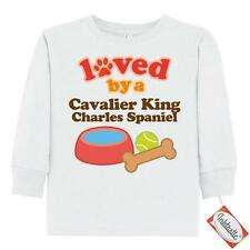 Inktastic Cavalier King Charles Spaniel Loved By A Toddler Long Sleeve T-Shirt