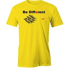 Be Different T-Shirt Funny Swimming The Other Way Tee New